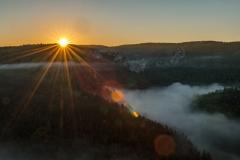 Sonnenaufgang Knopfmacherfels