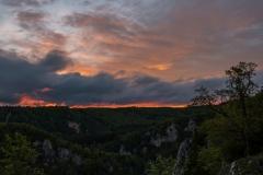 Blick vom Dreikönigsfels Donautal